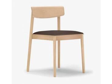 Andreu World Smart Stuhl mit Sitzpolster B: 500 H: 760 T: 485 mm, eiche/dunkelbraun SI-0611#310#1818