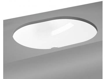 VitrA Metropole Unterbauwaschtisch, oval ohne Überlauf B: 55 T: 41 cm weiß 5942B003-1083