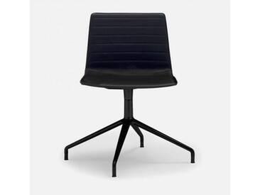 Andreu World Flex High Back Stuhl B: 505 H: 810 T: 515 mm, schwarz SI-1638#Fuß#schwarz#Steppnaht#1824
