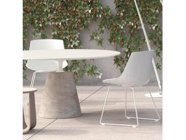 MDF Italia FLOW Stuhl mit Kufen B: 530 H: 805 T: 540 mm, weiß matt/weiß glanz F052102F006S007
