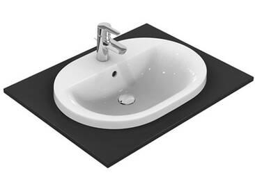 Ideal Standard Connect Einbauwaschtisch oval B: 62 T: 46 cm mit Ideal Plus E5040MA