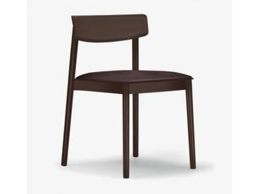 Andreu World Smart Stuhl mit Sitzpolster B: 500 H: 760 T: 485 mm, dunkelbraun SI-0611#372#1818