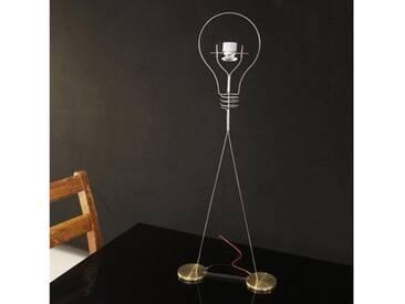 Ingo Maurer Walking Bulb LED Tischleuchte B: 25 H: 64 cm edelstahl/messing 5710000, EEK: A+