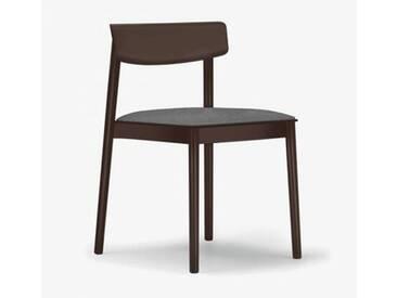 Andreu World Smart Stuhl mit Sitzpolster B: 500 H: 760 T: 485 mm, dunkelbraun/grau SI-0611#372#173