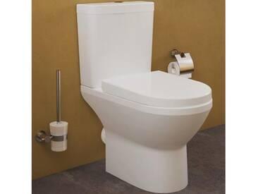 VitrA Integra Stand-Tiefspül-WC VitrAflush 2.0, open back L: 62 B: 36 H: 40 cm mit Bidetfunktion weiß 7044B003-0088