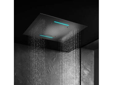 Herzbach Living Spa Farblicht-Regenbrause B: 950 T: 950 mm, Multifunktion 4, Deckeneinbau edelstahl poliert 11.695000.2.01, EEK: A+