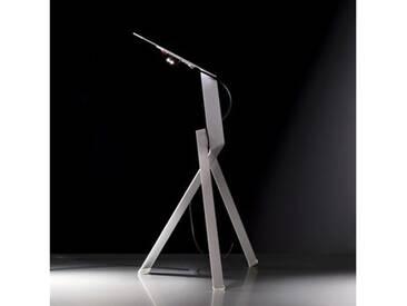 Ingo Maurer Jetzt 2 LED Tischleuchte mit Dimmer B: 30 H: 40 cm, silber 1137110, EEK: A+