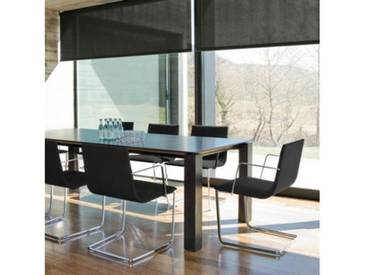 Andreu World Lineal Corporate Freischwinger m. Armlehnen B:540 H:830 T:535mm chrom/schwarz SO-0554#191