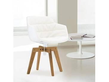 MDF Italia FLOW SLIM Sessel B: 550 H: 764 T: 547 mm, weiß/cremeweiß F054181C006R058F006S042S007