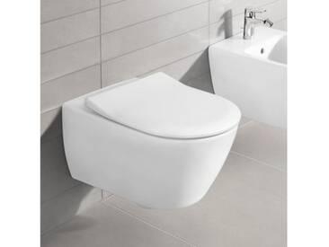 Villeroy & Boch Subway 2.0 Wand-Tiefspül-WC offener Spülrand, DirectFlush L: 56 B: 37 cm weiß mit CeramicPlus 5614R0R1