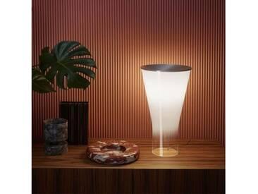 Foscarini Soffio LED Tischleuchte mit Dimmer Ø 30 H: 50 cm, aluminium/transparent/opal weiß 300001A-10, EEK: A+