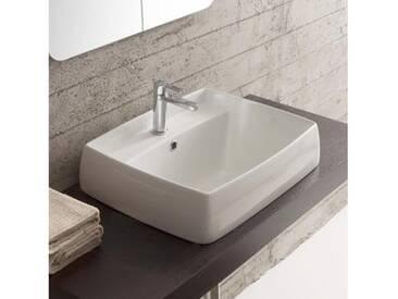 Scarabeo Arco Einbauwaschbecken B: 60 T: 48 cm weiß 1001
