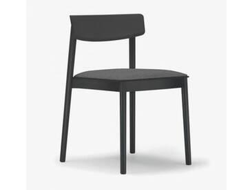 Andreu World Smart Stuhl mit Sitzpolster B: 500 H: 760 T: 485 mm, schwarz/grau SI-0611#381#173