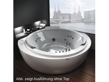 Jacuzzi Nova Top Aquasystem Eck Whirlpool L: 160 B: 160 H: 66 cm m. Top u. Wannenarmaturen Teak 9Q43552A