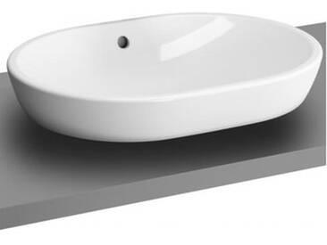 VitrA Metropole Aufsatzwaschtisch, oval mit Überlauf B: 59.5 T: 44,5 cm weiß mit VitrAclean 5942B403-0012