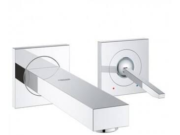 Grohe Eurocube Joy 2-Loch-Waschtischbatterie, für Wandmontage Ausladung: 170 mm 19997000