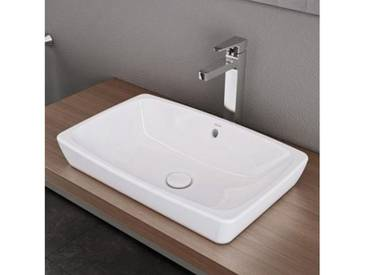 VitrA Metropole Aufsatzwaschtisch B: 60 T: 40 cm weiß ohne VitrAclean, mit Überlauf 5668B003-0012