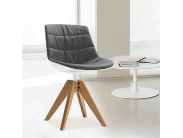 MDF Italia FLOW Stuhl mit Füßen B: 546 H: 805 T: 546 mm, eiche/weiß/grau F052188C006R063F006S042S007