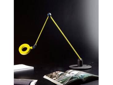 Martinelli Luce LAmica LED Tischleuchte Ø 22 H: 115 cm, anthrazit/pistaziengrün/blau 736/L/VE, EEK: A+