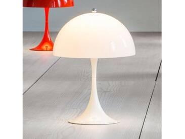 louis poulsen Panthella Mini LED Tischleuchte mit Dimmer Ø 25 H: 33,5 cm, opal weiß 5744162461, EEK: A+