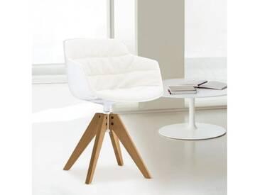 MDF Italia FLOW SLIM Sessel B: 560 H: 764 T: 560 mm, weiß/cremeweiß F054180C006R058F006S042S007