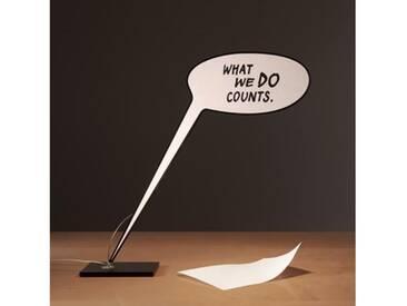 Ingo Maurer What We Do Counts LED Tischleuchte B: 90 H: 85 cm, schwarz/weiß 7041000, EEK: A+