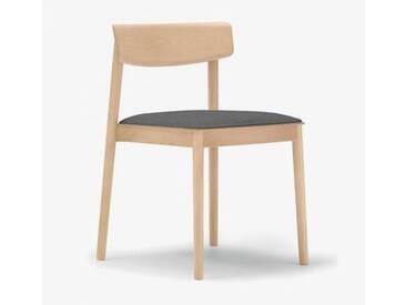 Andreu World Smart Stuhl mit Sitzpolster B: 500 H: 760 T: 485 mm, eiche/grau SI-0611#310#173