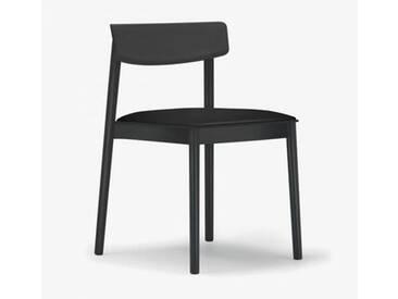 Andreu World Smart Stuhl mit Sitzpolster B: 500 H: 760 T: 485 mm, schwarz SI-0611#381#1824