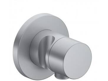 Keuco IXMO Absperrventil mit Schlauchanschluss und Brausehalter aluminium 59541170201