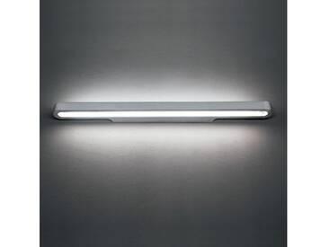 Artemide Talo Parete 90 LED Wandleuchte dimmbar B: 90.5 H: 4 T: 10 cm, silber 1916020A, EEK: A+
