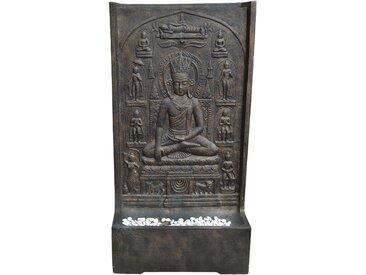 Buddha Skulptur geeignet als Fontäne Steinfigur Lavastein K047