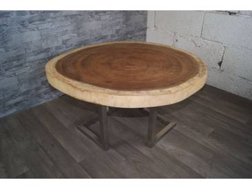 Massiv Akazie Baumtisch Tisch Wohnzimmer Couchtisch Baumscheibe G165