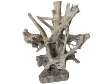 TEAK Skulptur SEHR SCHWER Wurzelholz Treibholz Schwemmholz Aufsteller Altholz Deko Rustikal 030