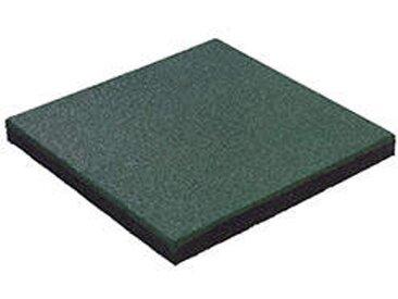 Bodenfliese aus Gummi 50 x 50 cm grün