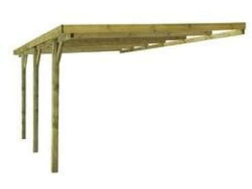 Anlehncarport DAKAR Aus Holz 3 X 5 M Kesseldruckimpragniert