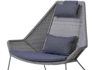 Cane-Line Breeze Kissensatz für Highback Sessel Blau