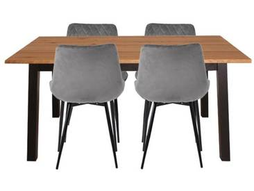 Essgruppe mit Tisch und 4 Stühlen - Isak