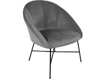 Stuhl Grau (Velours) - Malou (ab KW 5 lieferbar)