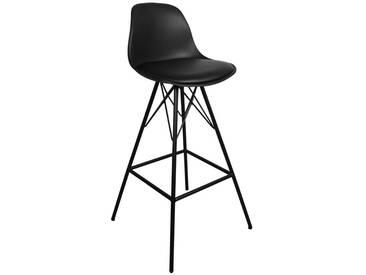 Barhocker Schwarz (Sitzhöhe 75 cm) - Comfort (ab KW 4 lieferbar)