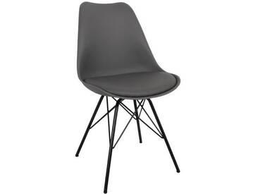 Esszimmerstuhl Grau (Metallbeine) - Comfort (ab KW 4 2019 lieferbar)