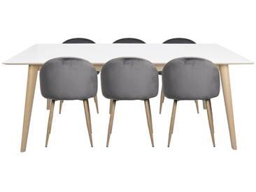 Essgruppe mit Tisch und 6 Stühlen - Nora (ab KW 8 lieferbar)