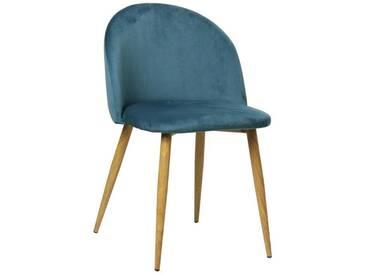 Stuhl Blau (Velours) - Nellie