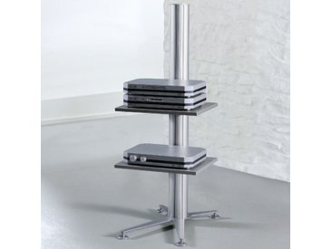 STANDINGS Aluminium Ständersystem mit 2 Fachböden b50xt60xh80cm