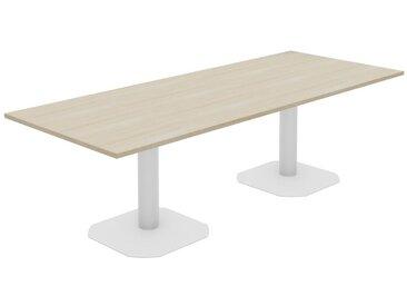 TREND PUR Konferenztisch mit Säulenfüßen, 250x100cm