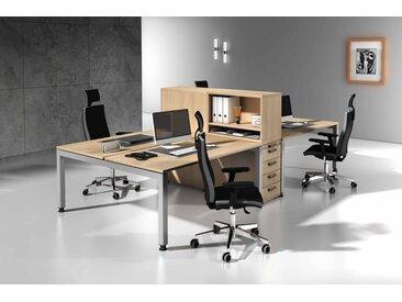 EXPRESS J-Serie Büromöbel Set, 4 Arbeitsplätze, 300x300cm