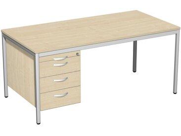 GERAMÖBEL 4-Eco Schreibtisch 160cm breit mit Hängecontainer