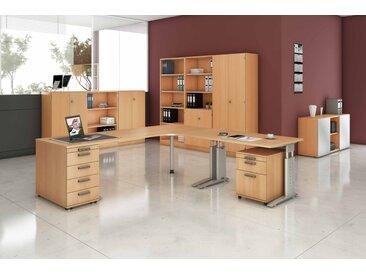 EXPRESS U-Serie Büromöbel Set, 1 Arbeitsplatz, 450x450cm