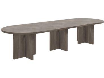 TREND PLUS Konferenztisch mit Wangengestell beideitig abgerundet, 345x115cm