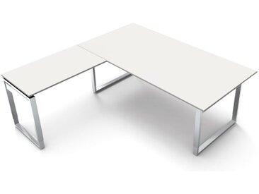 AVETO Schreibtisch mit Kufengestell b180xt80xh68-82cm, mit Anbauelement