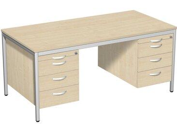 GERAMÖBEL 4-Eco Schreibtisch 160cm breit mit 2 Hängecontainer
